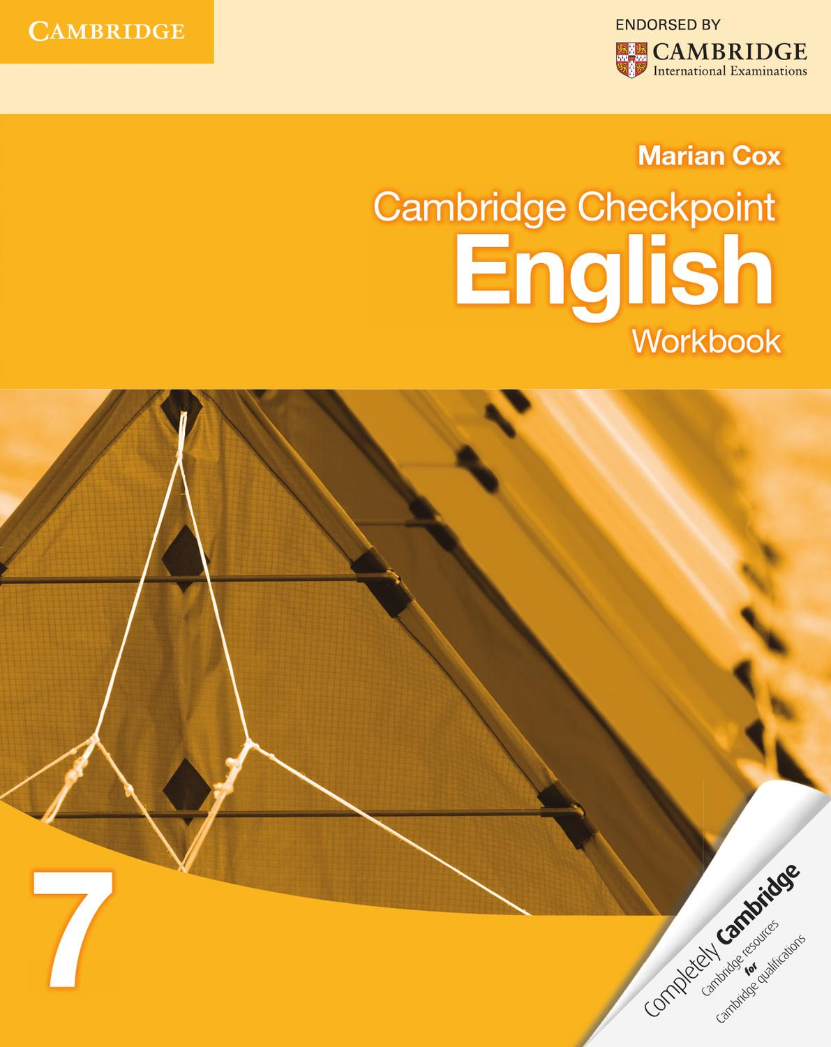 Cambridge Checkpoint English: Workbook 7 by Cambridge