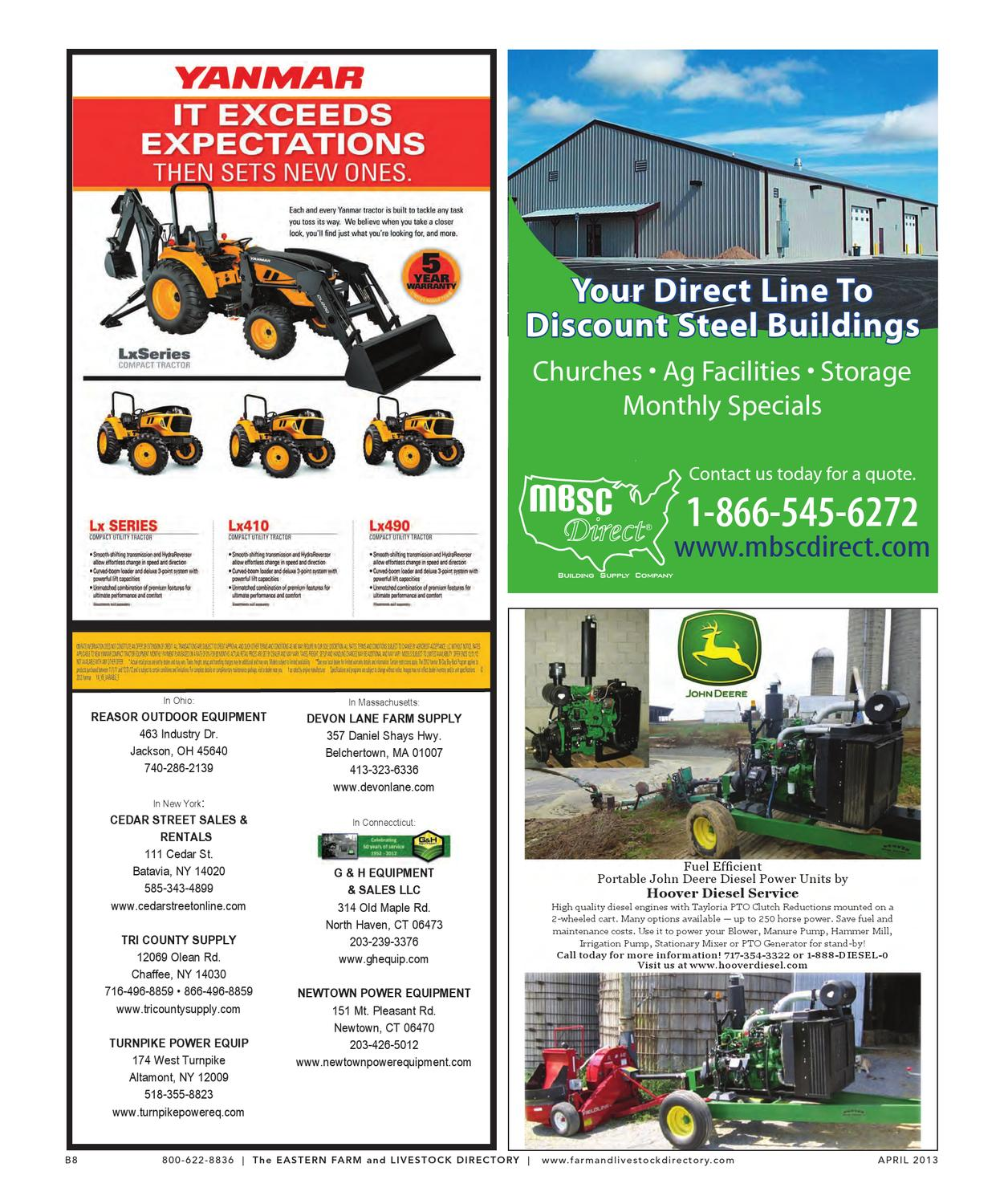 Eastern Farm & Livestock Directory | April 2013 Edition by ...
