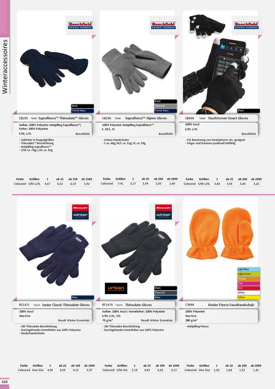Suprafleece™ Thinsulate™ Gloves Winter HandschuheBeechfield