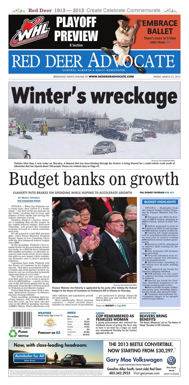 1f16b7d0ec6 Red Deer Advocate, March 22, 2013 by Black Press Media Group - issuu