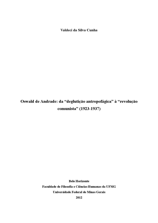 """Oswald de Andrade  da """"deglutição antropofágica"""" à """"revolução comunista""""  (1923-1937) by Valdeci Cunha - issuu c200e05641c"""