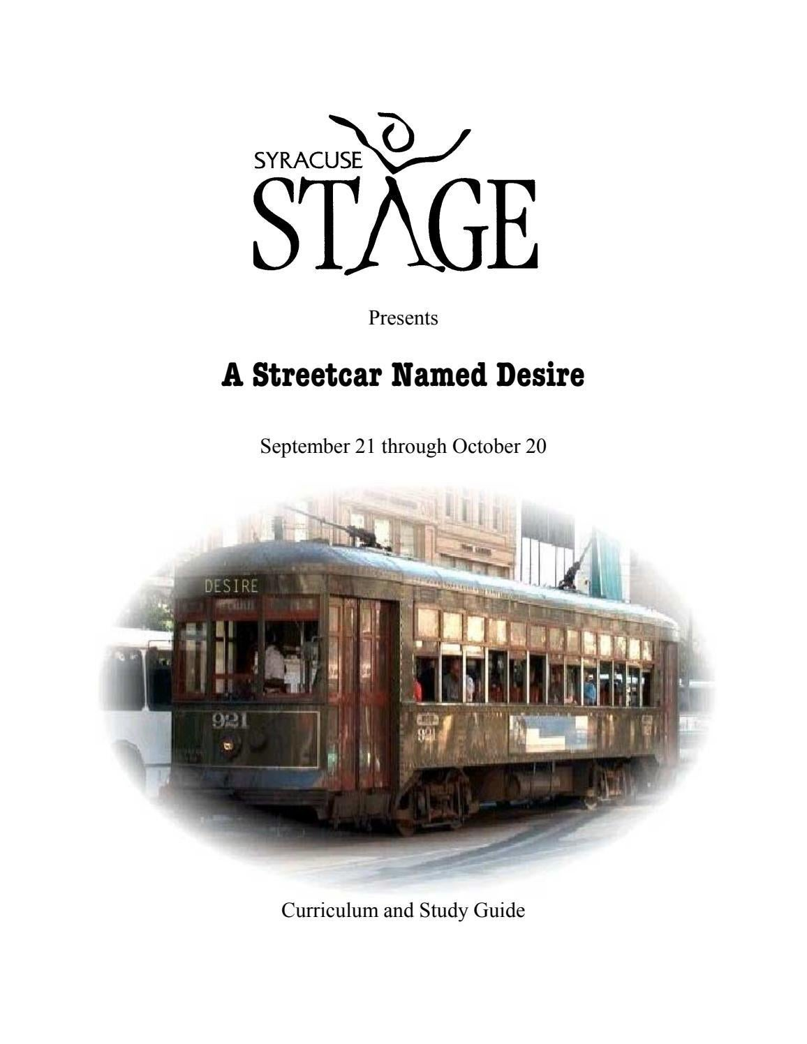 A streetcar named desire by syracuse stage issuu buycottarizona