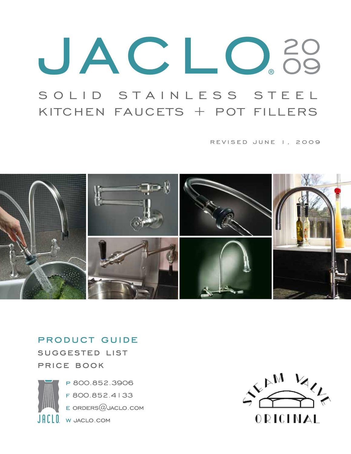 Brushed Stainless Steel Standard Plumbing Supply Jaclo 1007-M-BSS Metal Lever Handle for All Steam Valve Original Faucets Except Single Lever
