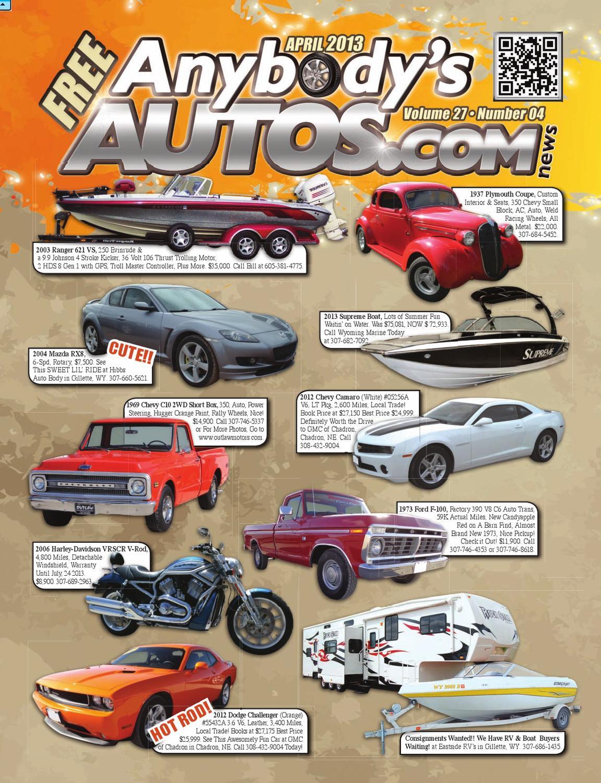 April 2013 Anybodys Autos News Magazine