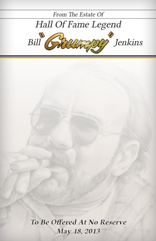 "BILL/""GRUMPY/""JENKINS COMPETITION YELLOW LICENSE PLATE"