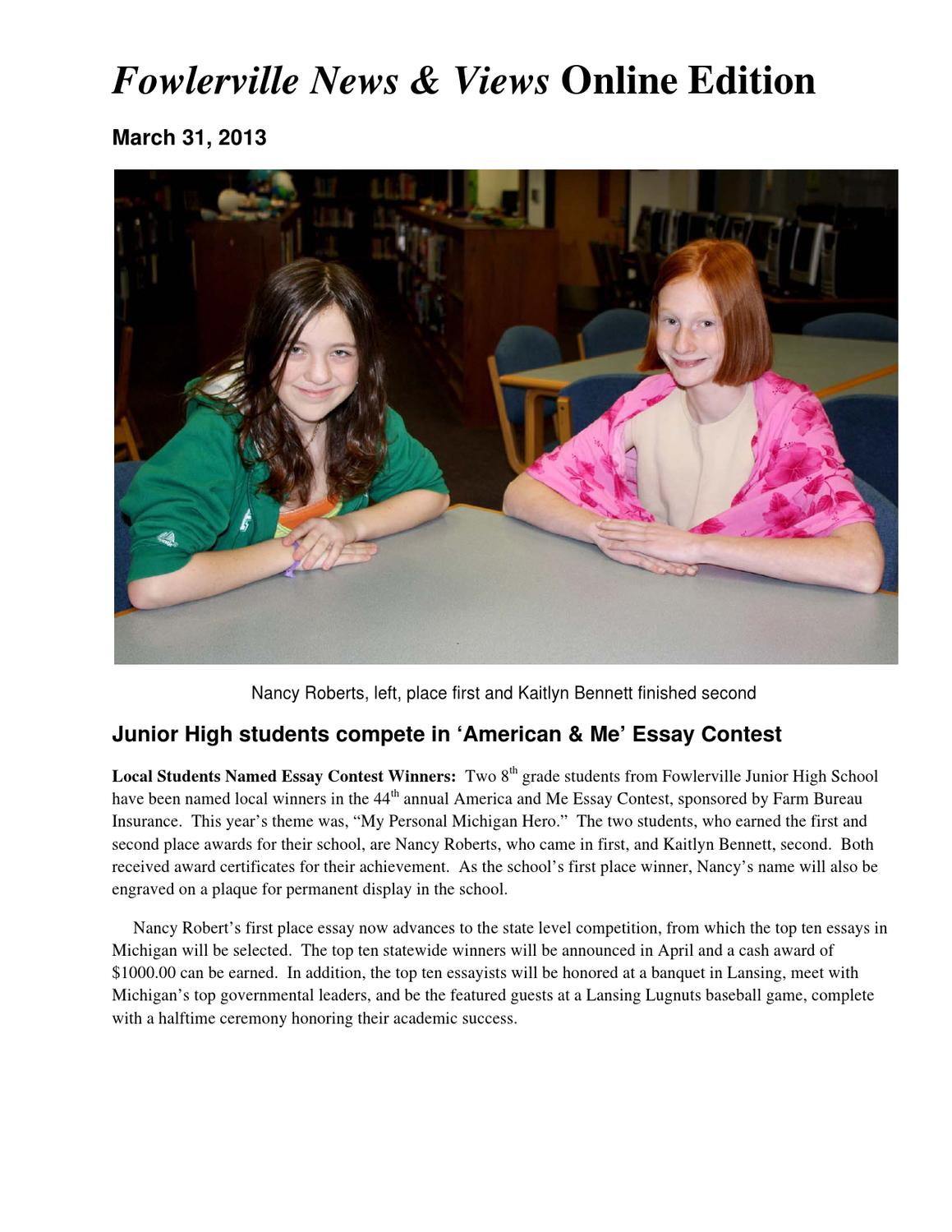 farm bureau insurance america and me essay contest Ca — some people say america is  statewide winners in farm bureau insurance's america and me essay contest the theme of the annual contest.