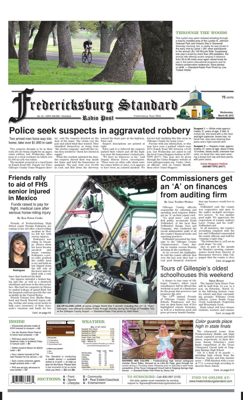 Fredericksburg Standard Radio Post General Excellence Issue 1 by Matt Ward  - issuu