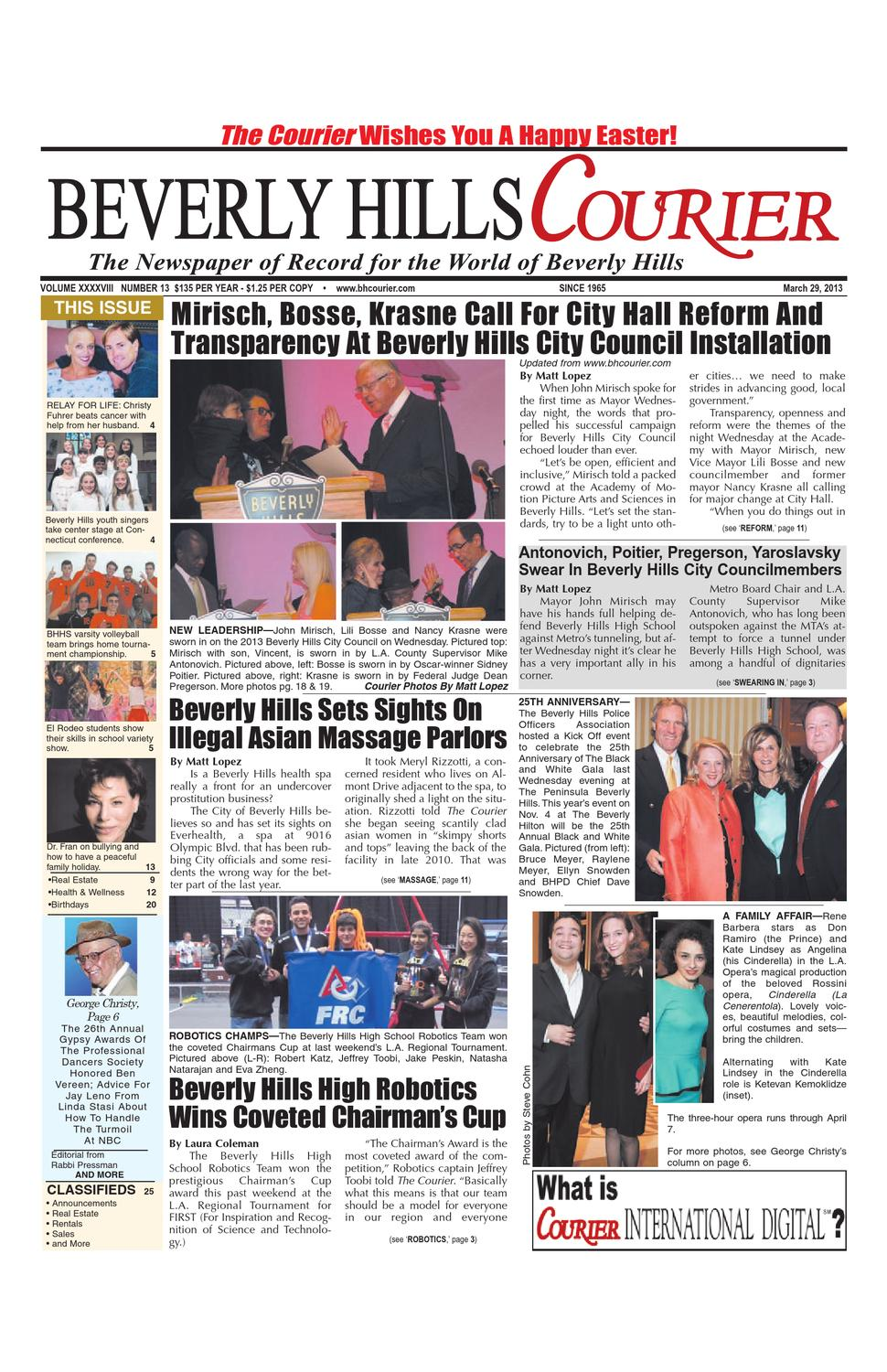 BH Courier 03-29-13 E-edition by The Beverly Hills Courier - issuu