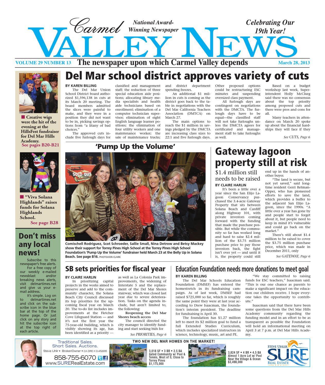 Carmel Valley News 3 28 13 By Utcp Issuu