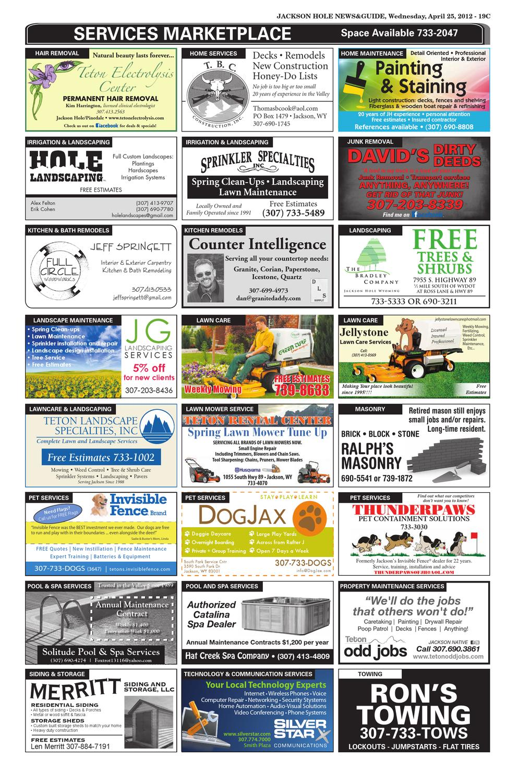 Jackson Hole News Amp Guide 4 25 12 By Teton Media Works Inc