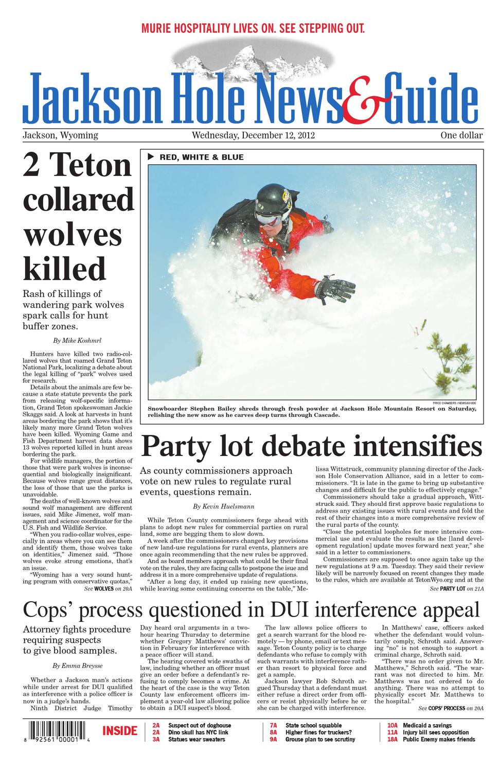 Jackson Hole News Guide December 12 2012 by Teton Media Works 2aa8a8661