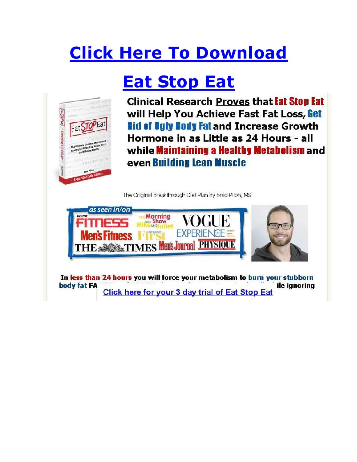 Eat Stop Eat Expanded 5th Edition Pdf
