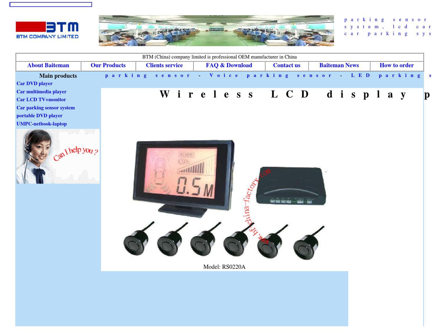 Wireless LCD display parking sensor