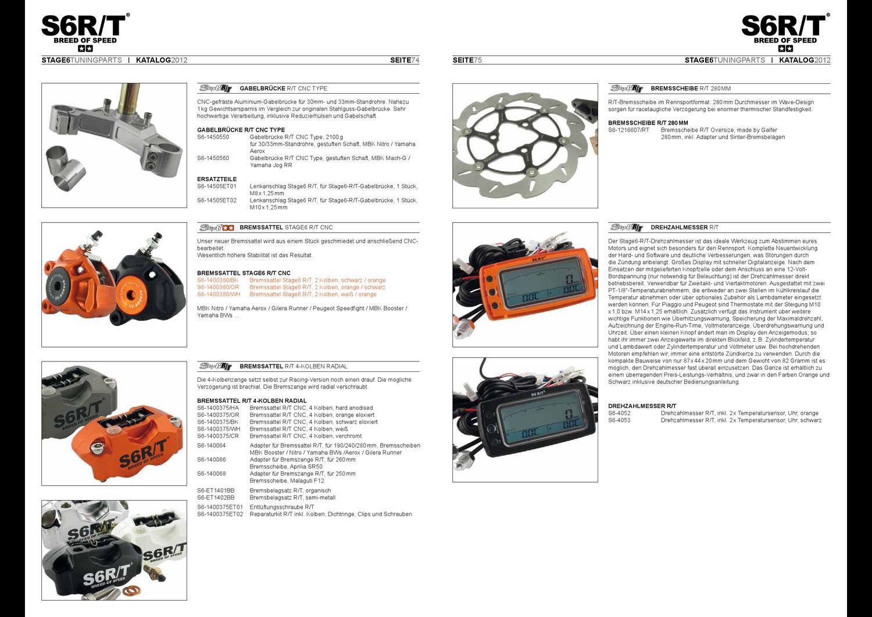 Bremsbelagsatz STAGE6 R//T-Bremszange organisch
