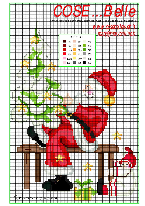 Babbo Natale Punto Croce Schemi Gratis.Schema Punto Croce Babbo Natale By Cosebelleweb Issuu