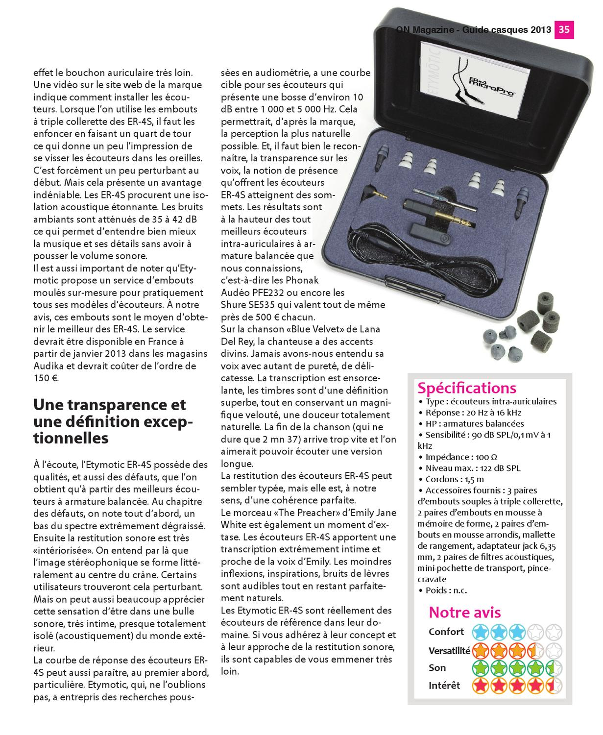 On Magazine Guide Casques Audiophiles 2013 By On Magazine Issuu