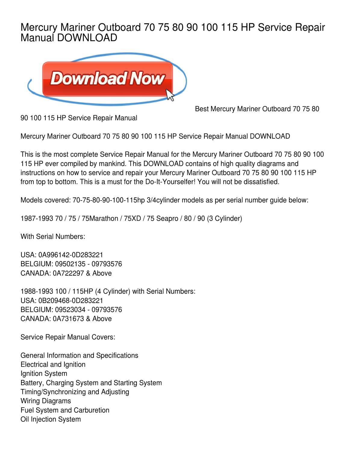 mercury mariner outboard 70 75 80 90 100 115 hp service repair S&W Pistol Serial Number Lookup mercury mariner outboard 70 75 80 90 100 115 hp service repair manual download by joan head issuu