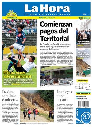 Edición impresa Quito del 1 de abril de 2013 by Diario La Hora ... d43a1d66bb4