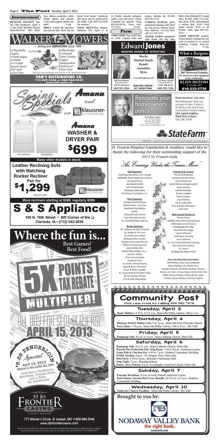 4-2-2013 by Maryville Daily Forum/The Post - issuu
