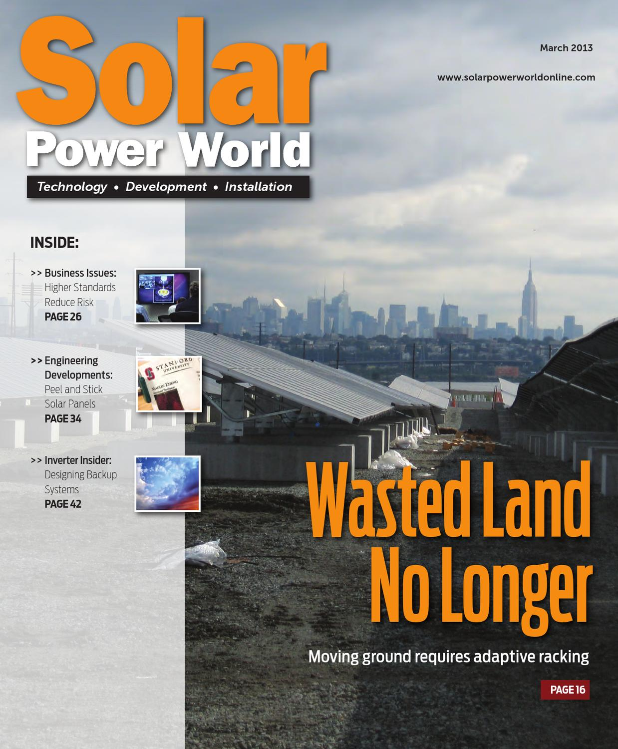 Solar Power World March 2013 By Wtwh Media Llc Issuu Fire Pump Electrical Wiring Furthermore Home Backup Generator