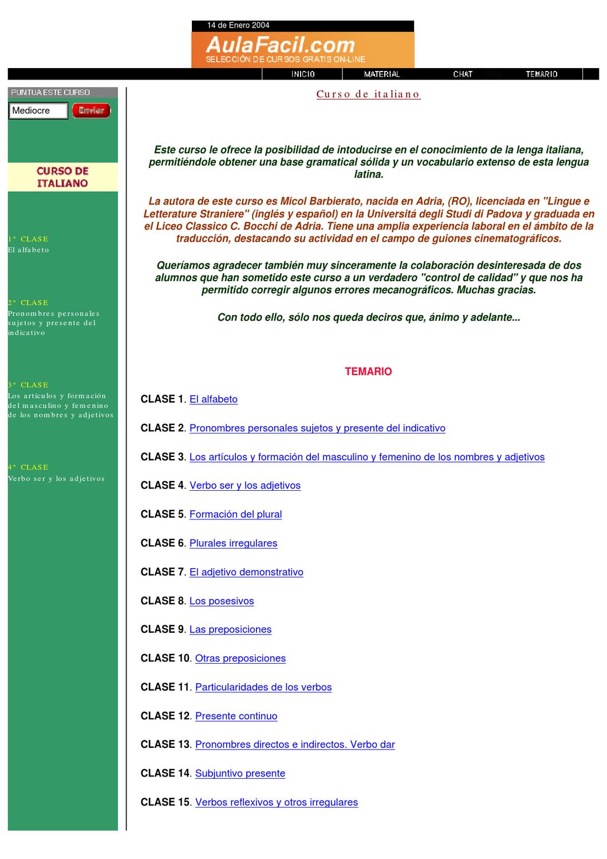 Curso de italiano by Fernando Tec - issuu