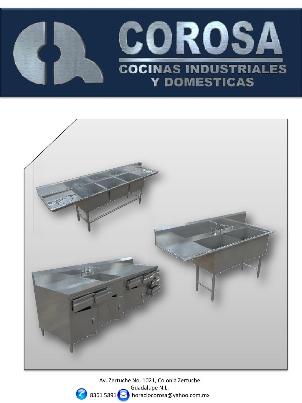 Catalogo De Productos Corosa Acero Inoxidable By Alejandro Obreg N  # Muebles Zertuche
