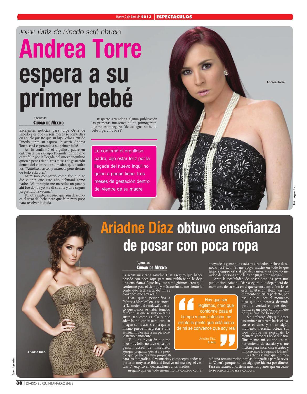 Andrea Torre Desnuda edicion digitaldiario el quintanarroense - issuu