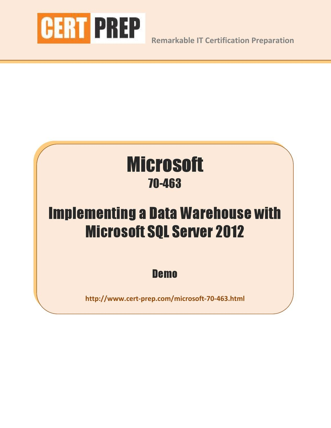 Microsoft 70 463 implementing a data warehouse with microsoft microsoft 70 463 implementing a data warehouse with microsoft sql server 2012 by cert prep issuu xflitez Gallery