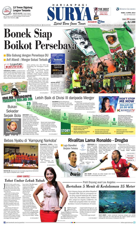 E Paper Surya Edisi 3 April 2013 By Harian Issuu Produk Umkm Bumn Kapal Batok Lebak
