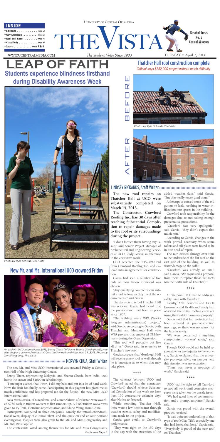 The Vista April 2 2013 By The Vista Issuu