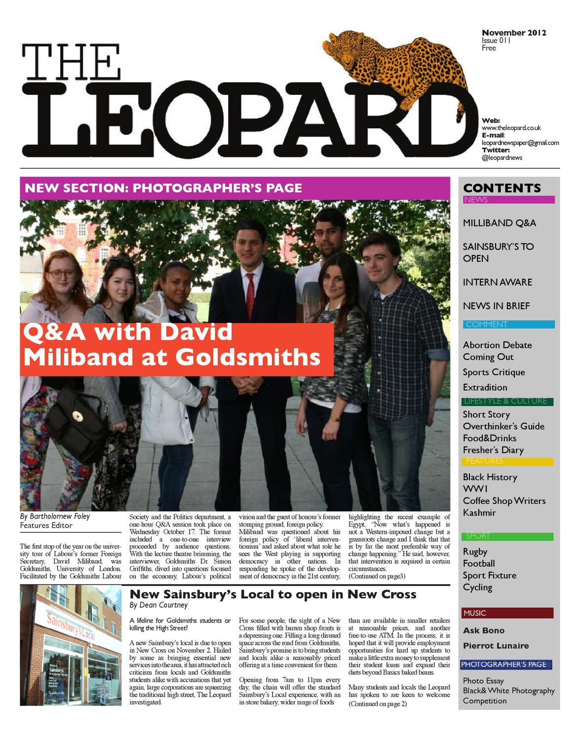 The Leopard (November 2012) by The Leopard - issuu