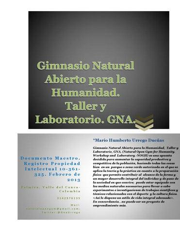 Gimnasio natural abierto taller y laboratorio gna for Gimnasio abierto