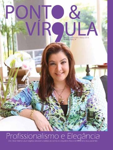 """Cover of """"Revista Ponto & Vírgula - Ano 1 - Edição 03 - Março 2013"""""""