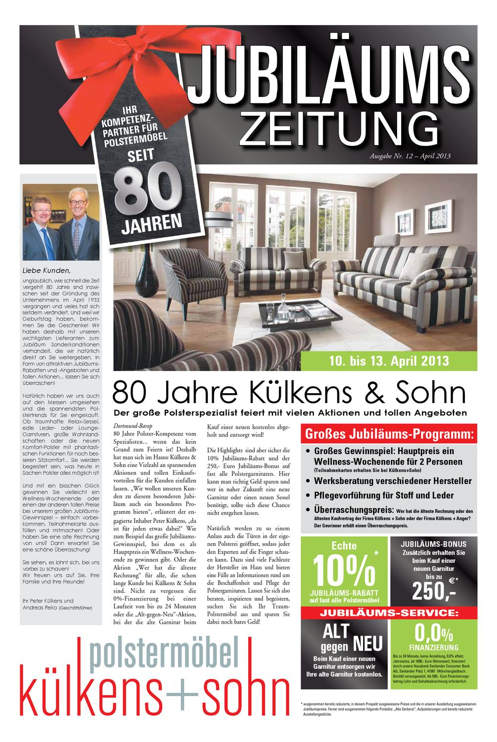 jubil umszeitung 80 jahre k lkens sohn by andreas reko issuu. Black Bedroom Furniture Sets. Home Design Ideas