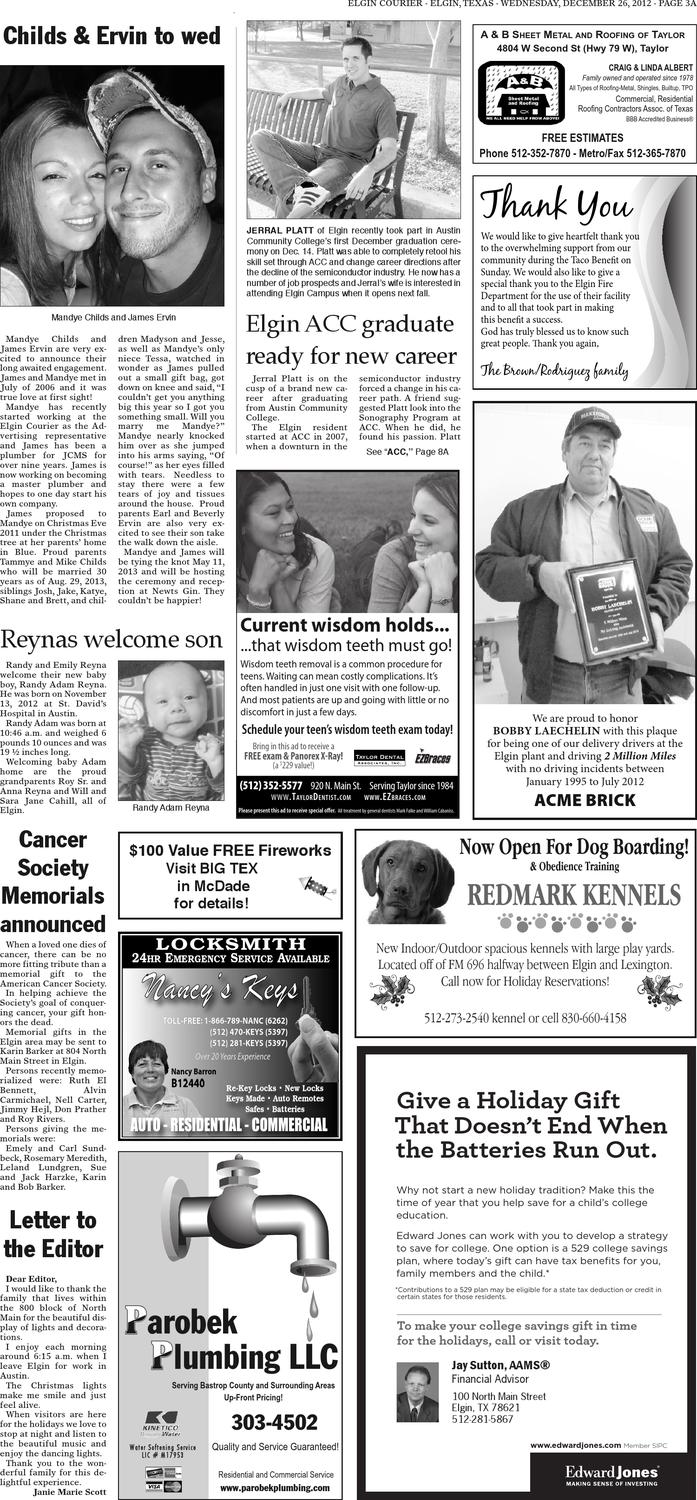 Elgin Courier, General Excellence, Dec  26, 2012 by Texas