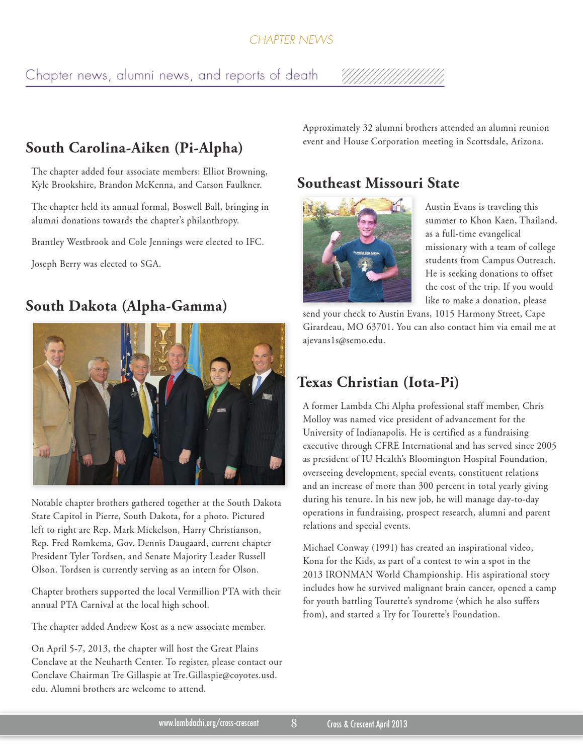 April 2013 Cross Crescent By Lambda Chi Alpha Fraternity Issuu