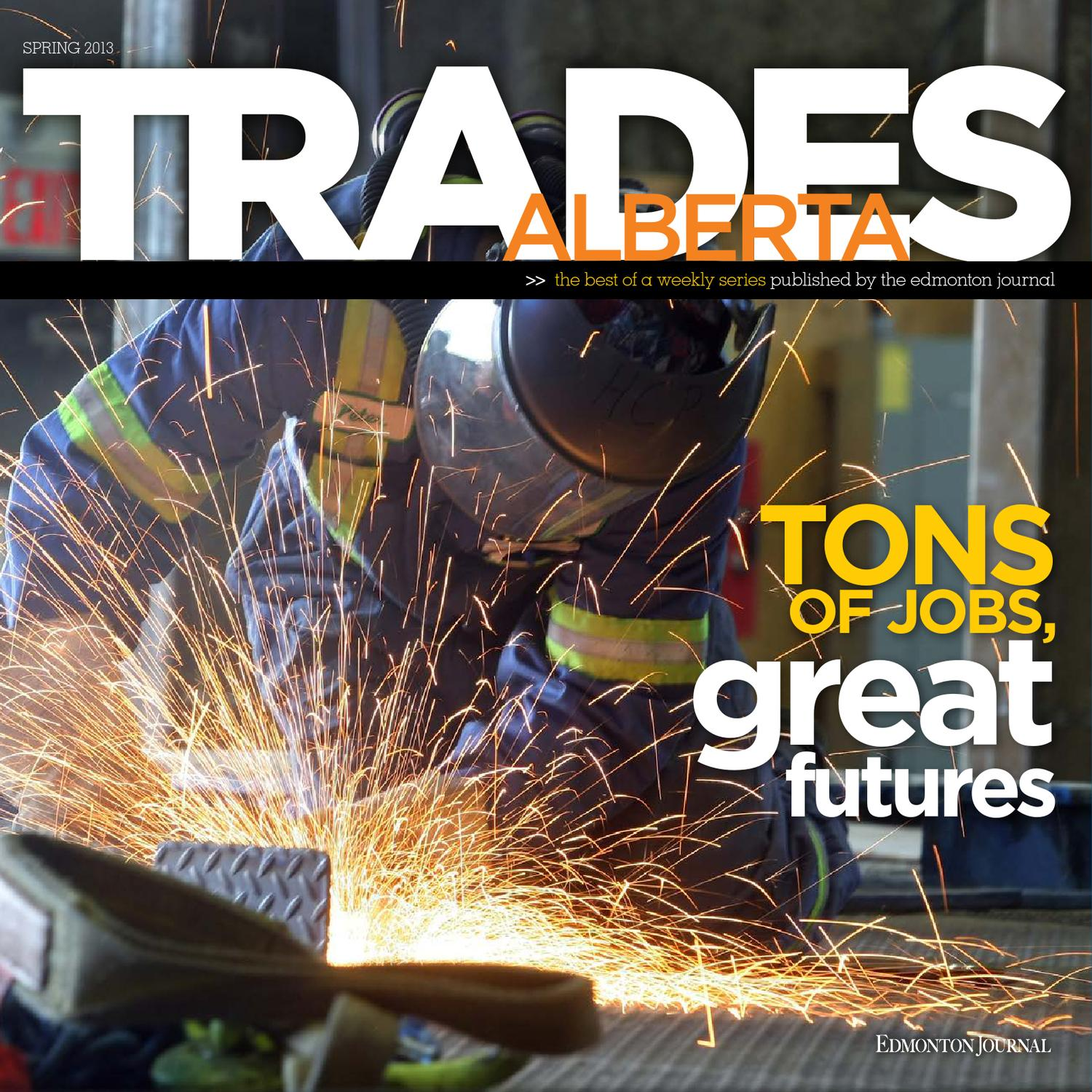 Edmonton Journal Presents Trades Alberta By Donald Allen