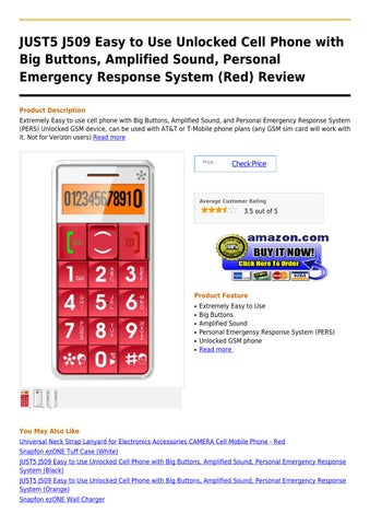 JUST5 J509 Easy to Use Unlocked Cell Phone with Big Buttons