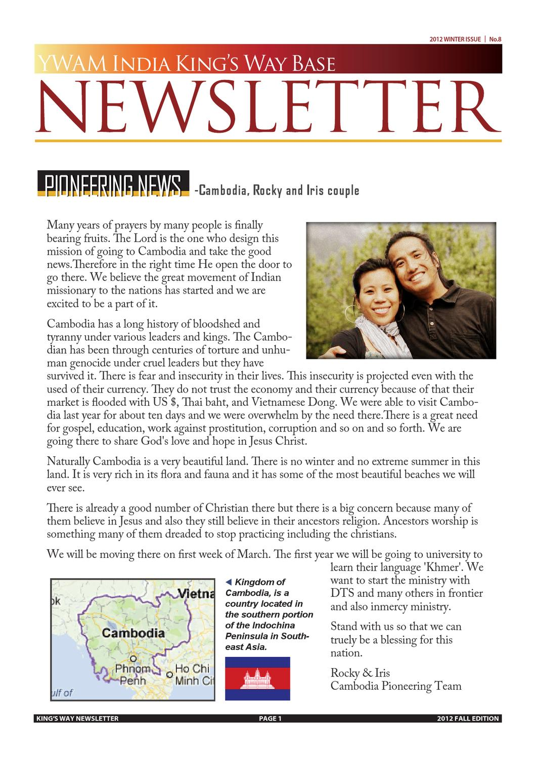 YWAM King's Way Newsletter 2012 Winter (Eng) by YWAM King's