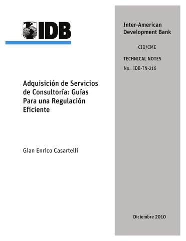 42463dd98e3d5 adquisición de servicios de consultoría  guías para una regulación eficiente