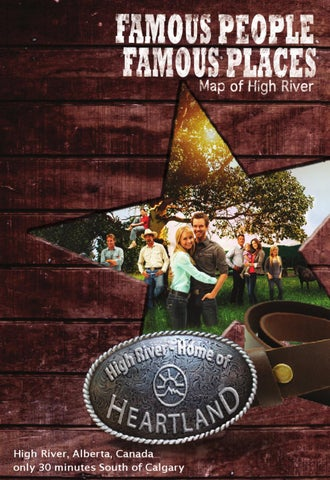 High River Alberta Canada Map.Famous People Famous Places Map Of High River By Routes Media Inc
