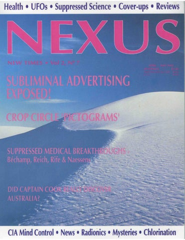 Nexus 0207 new times magazine by andre costale issuu nexus news 6 a round up of the news you probably did not see subliminal seduction 11 a revealing look how advertising in print media preys upon our gumiabroncs Images