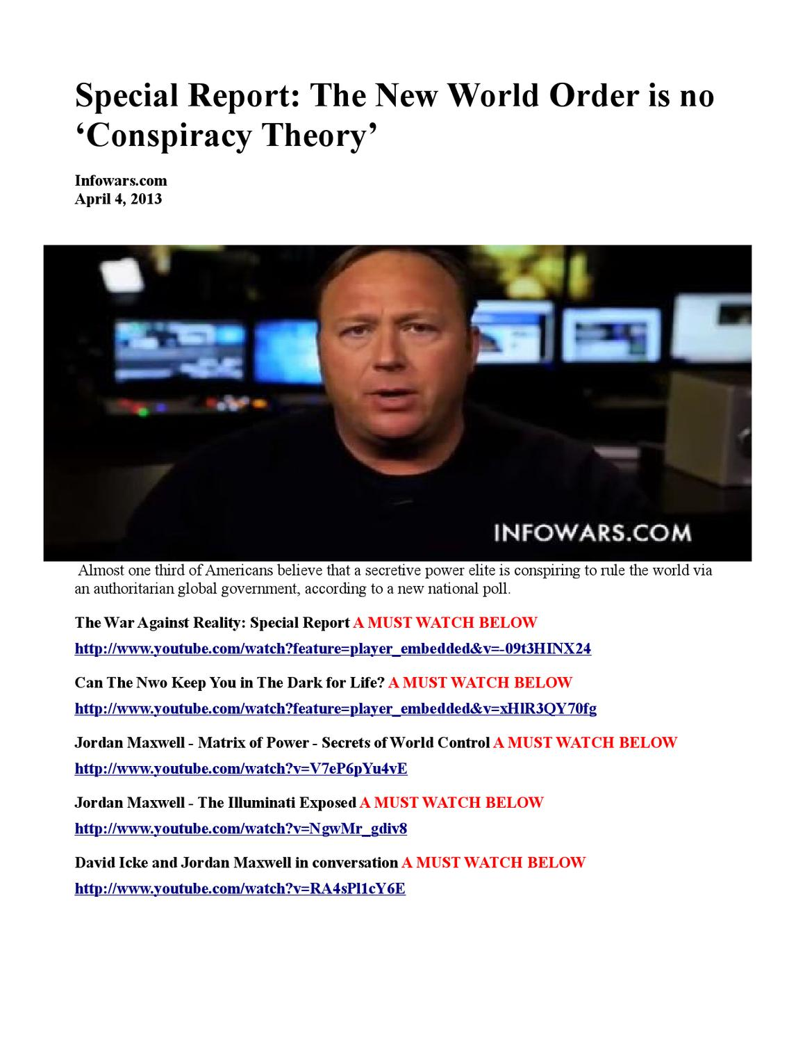 Conspiracy theory of the world