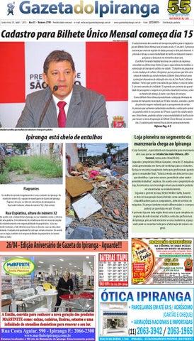 Edição de 04 04 2013 - Gazeta do Ipiranga by Casé Oliveira - issuu 16f15f9987
