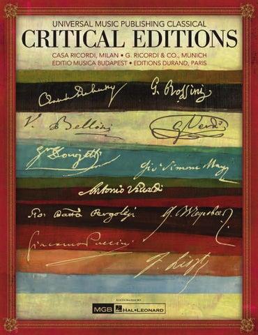 Critical Editions By Hal Leonard Mgb Srl Issuu