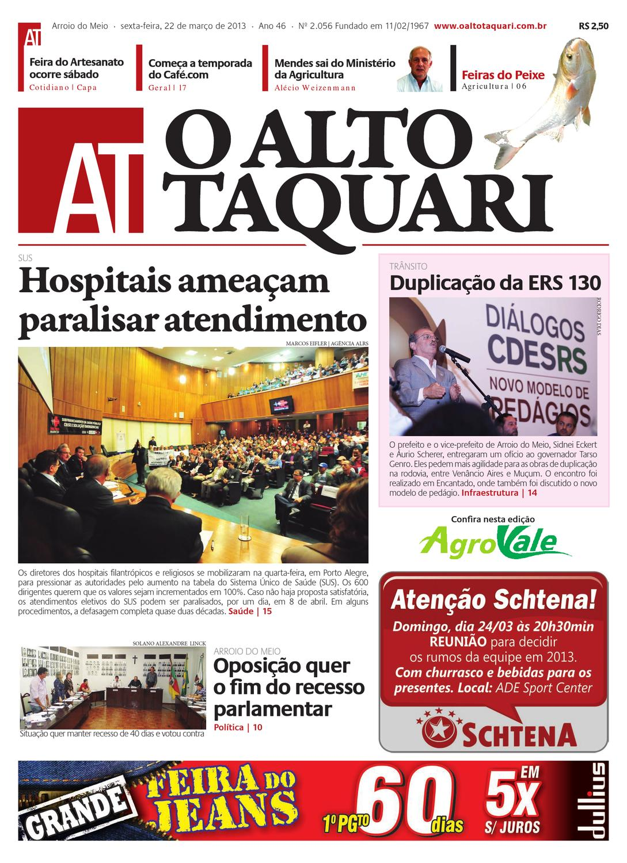 Jornal O Alto Taquari - 22 de março de 2013 by Jornal O Alto Taquari - issuu 7f374dbb3468c