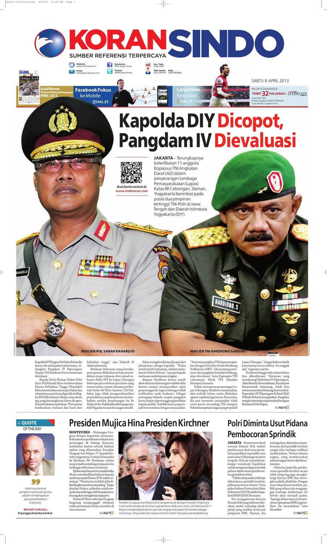 Si Digital 06042013 By Seputar Indonesia Issuu Liquid 100 Ribu 4 Mrc Mira Support Tak Takut Cukai 57