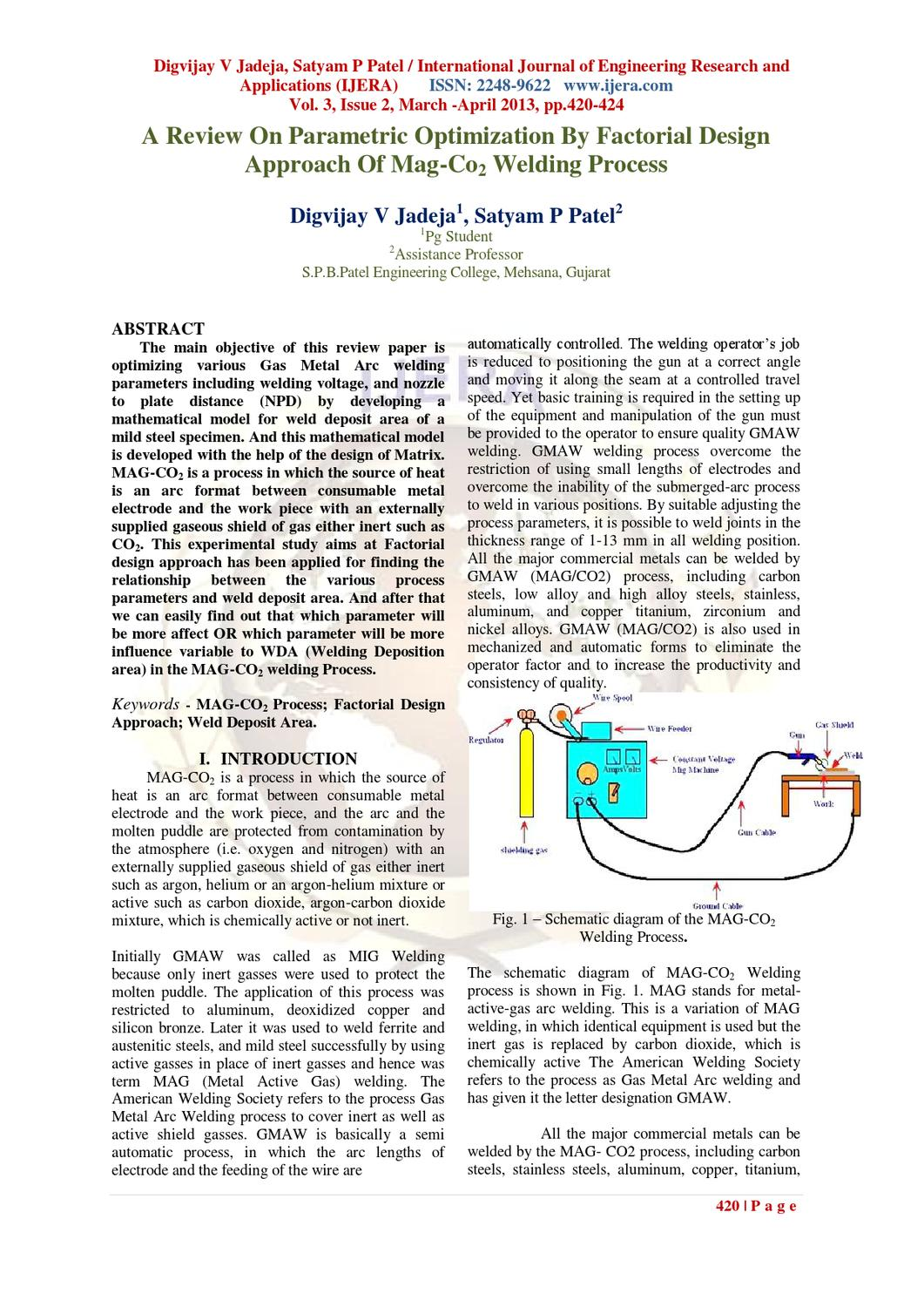 Bo32420424 By Ijera Editor Issuu Diagram Of Welding Process