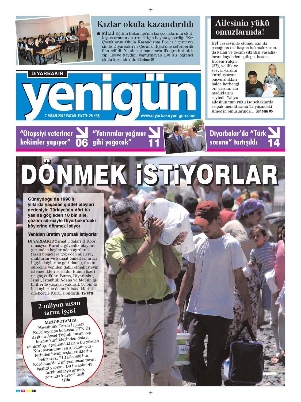 Diyarbakir Yenigun Gazetesi 7 Nisan 2013 By Osman Ergun Issuu