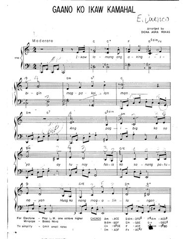 Piano piano chords of ikaw by yeng : Piano : piano chords ikaw Piano Chords or Piano Chords Ikaw' Pianos